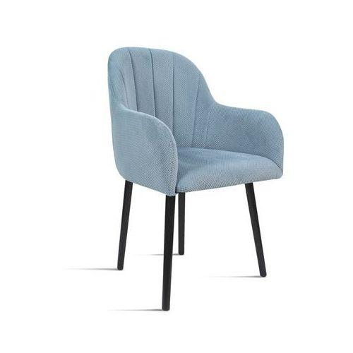 Krzesło BESSO niebieski/ noga czarna/ LU2782