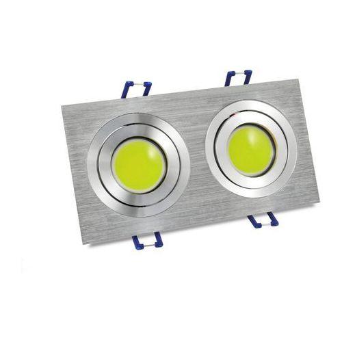 Polux Oczko 2x4w led cob srebrny szczotkowany olal-q2x4cwa zimna barwa światła /sanico