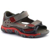 Kornecki Sandały dla dzieci 06189 - czerwony ||szary