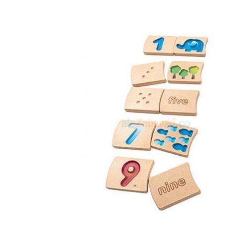 Cyferki 1-9,, nauka liczenia, Plan Toys PLTO-5641