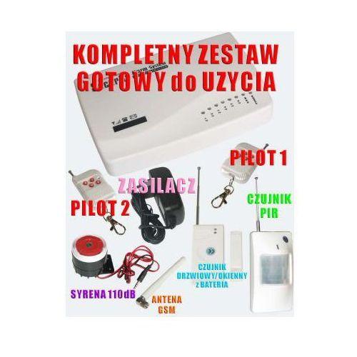 Profesjonalny Alarm Bezprzewodowy + Powiadomienie na Tel. GSM + 2 Czujki + Nasłuch Otoczenia itd.