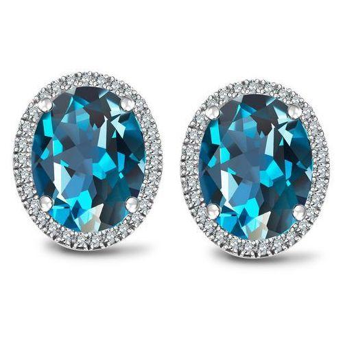 Jubilé - kolczyki z london blue topazami i diamentami marki Biżuteria yes