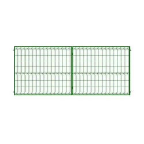 Brama dwuskrzydłowa stark 400 x 170 cm zielona marki Polbram