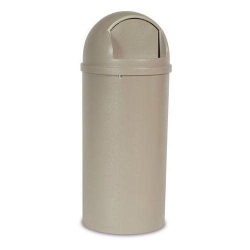Pojemnik na odpady (PE), ogniotrwały, poj. 57 l, Ø 390 mm, beżowy. Z bardzo trwa