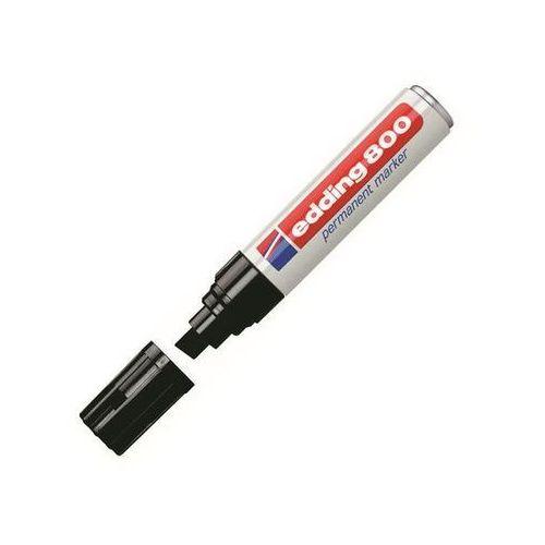 Edding marker permanentny e-800, aluminiowa obudowa, ścięta końcówka 4-12mm, czarny