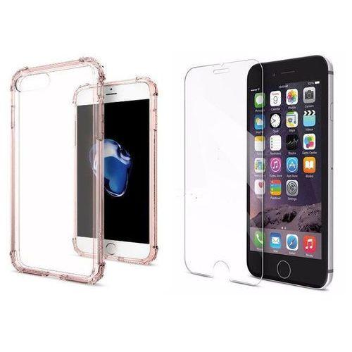 Sgp - spigen / perfect glass Zestaw   spigen sgp crystal shell rose crystal   obudowa + szkło ochronne perfect glass dla modelu apple iphone 7 plus