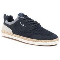 Espadryle - maui sport knit pms10284 navy 595 marki Pepe jeans