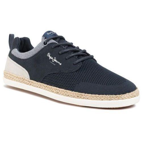 Pepe jeans Espadryle - maui sport knit pms10284 navy 595