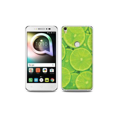 Alcatel Shine Lite - etui na telefon Foto Case - limonki, kolor zielony