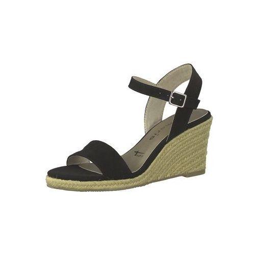 sandały z rzemykami czarny marki Tamaris