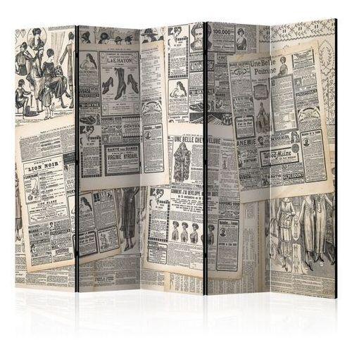 Parawan 5-częściowy - vintage newspapers ii [room dividers] marki Artgeist
