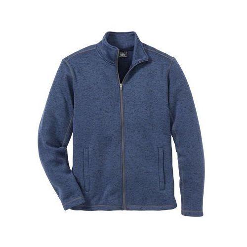 Bluza rozpinana melanżowa z polaru Regular Fit bonprix niebieski melanż, poliester