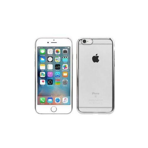 JCPAL   Przezroczyste etui Crystal TPU ze srebrną otoczką   iPhone 6 / 6S, kolor szary