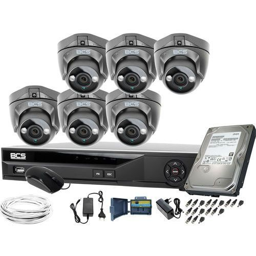 ZM11954 Obserwacja monitoring domu posesji 6x BCS-DMQE1500IR3-G rejestrator BCS-XVR08014KE-II 1TB
