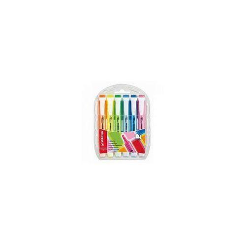 Zakreślacze swing cool zestaw 6 kolorów w etui 275/6 marki Stabilo