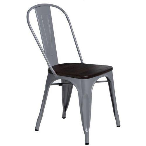 Krzesło Paris Wood szare sosna szczot. MODERN HOUSE bogata chata, kolor szary