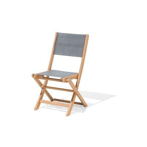 zestaw do ogrodu 2 krzesła drewniane textilene ciemnoszare cesana marki Beliani
