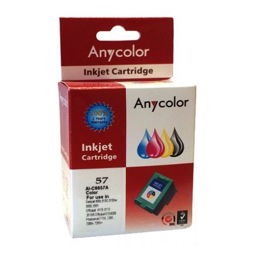 Zastępczy atrament hp 57 [c6657a] color 100% nowy marki Anycolor
