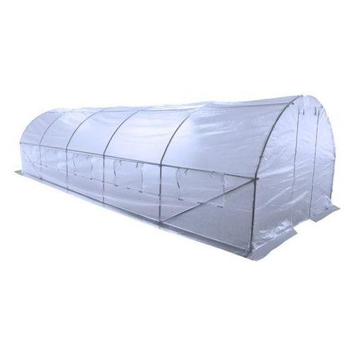 Home&Garden tunel foliowy, ogrodowy - 300 x 800 cm (24 m2) - biały