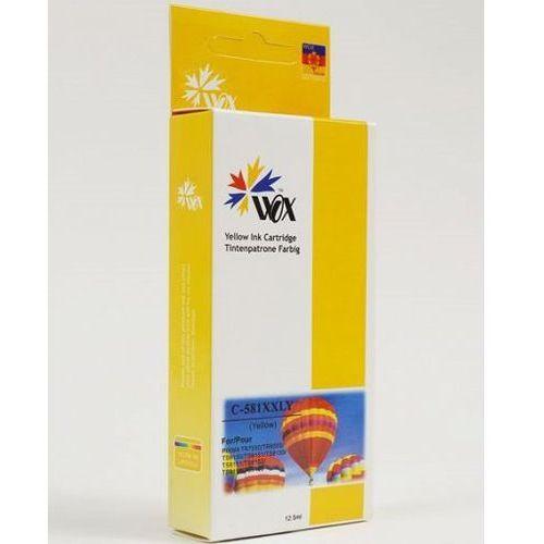 Tusz Wox CLI581Y XXL zamiennik Canon Pixma TR7550/8550 TS6150/8150/9150 żółty 12,5ml, WOX-C581YXXLN