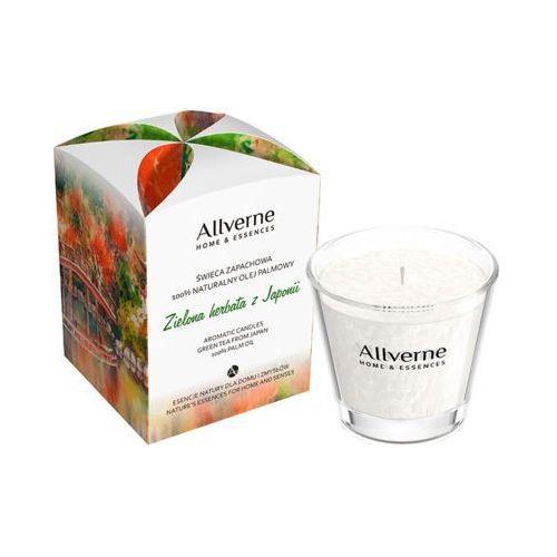 Miraculum Allverne 170g zielona herbata z japonii świeca zapachowa