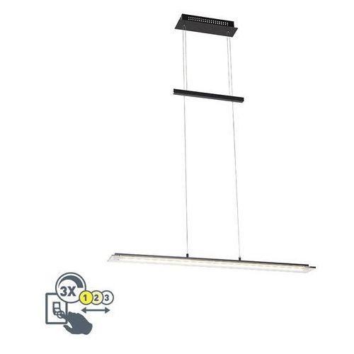 Honsel Stylowa lampa wisząca czarna 88 cm z diodą led, 3 stopnie do przyciemniania - cavolo
