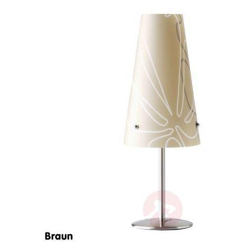 Brilliant Nowoczesna lampa stołowa isi, brązowa (4004353079719)
