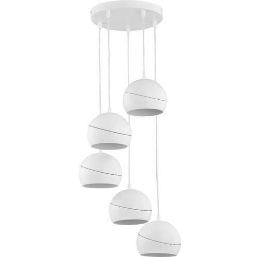 Lampa wisząca zwis TK Lighting Yoda white orbit 5x60W E27 biała 2075 (5901780520755)