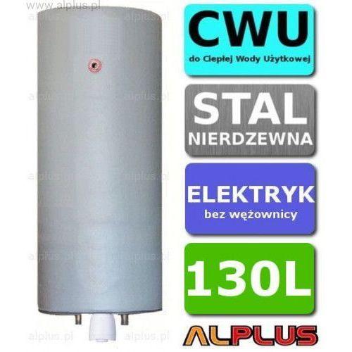 Bojler elektryczny nierdzewny pionowy wiszący 130L, z grzałką 2kW lub inną do wyboru, 130 litrów, bez wężownicy, Wysyłka gratis, C-ELEK-PION-WISZ-130-grzalka
