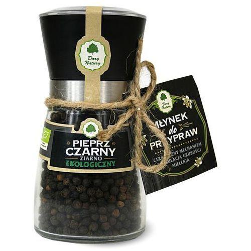 Dary natury - przyprawy i zioła bio Pieprz czarny ziarno w młynku bio 90 g dary natury (5902581616449)