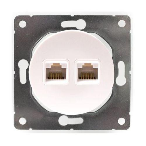 Dmp solid Gniazdo telefoniczno - komputerowe soul biały (5903332580699)
