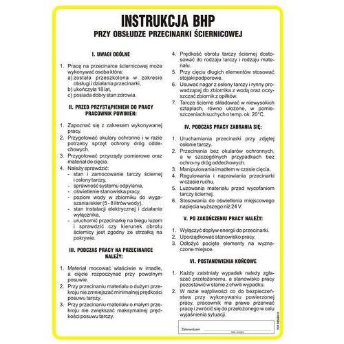 Instrukcja BHP przy obsłudze przecinarki ściernicowej. Najniższe ceny, najlepsze promocje w sklepach, opinie.