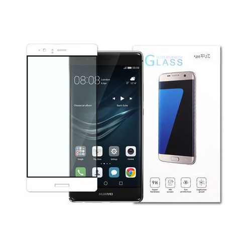Etuo.pl - szkło Huawei p9 plus - szkło hartowane 3d - biały