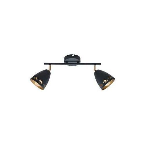 Listwa lampa sufitowa plafon spot Candellux Coty 2x40W E14 czarna 92-67166