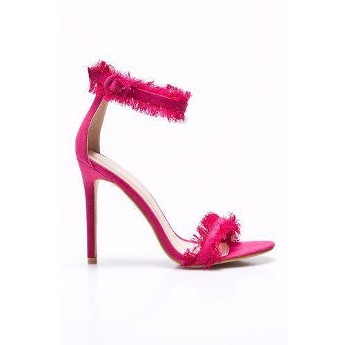 Public Desire - Sandały Effy Pink Denim, kolor różowy