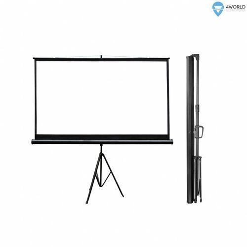 4World Ekran projekcyjny ze statywem 186x105 (84'', 16:9) biały mat (5908214354238)