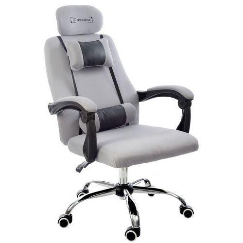 Fotel biurowy szary, model gpx011 marki Giosedio