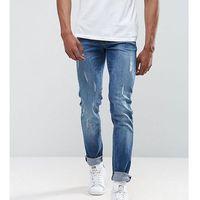 Loyalty & faith Loyalty and faith tall slim fit jean with abbrasions - blue