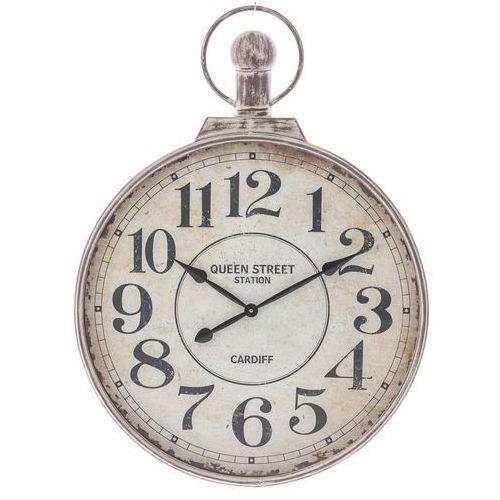 Dekoria Zegar ścienny Queen Street śr. 74cm, 74 × 9 × 100 cm