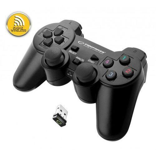 ESPERANZA EGG108K GAMEPAD BEZPRZEWODOWY 2.4GHZ PS3/PC USB GLADIATOR CZARNY