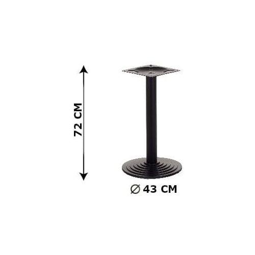 Podstawa stolika żeliwna SH-5005-1/B, (stelaż stolika), kolor czarny, SH-5005-1/B