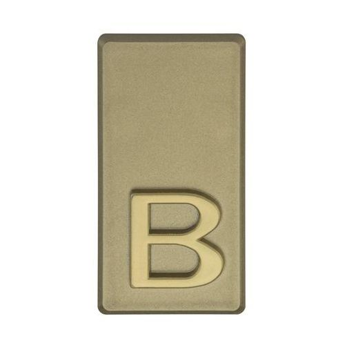 Litera B wys. 5 cm PVC oliwkowa