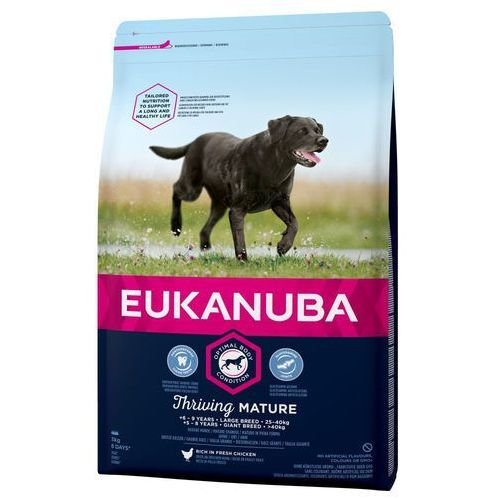 thriving mature large breed, kurczak - 15 kg  dostawa gratis + promocje  -5% rabat dla nowych klientów marki Eukanuba