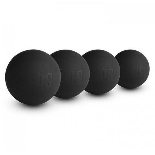 Knoby lacrossball piłka do masażu zestaw 4 sztuki przenośne czarne marki Capital sports