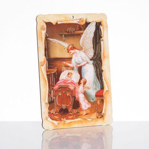 Produkt polski Obrazek religijny z aniołem stróżem