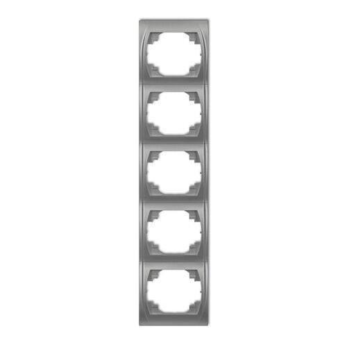 LOGO Ramka pionowa pięciokrotna brązowy metalik 9LRV-5