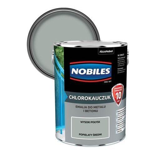 Emalia chlorokauczukowa do metalu i betonu popielata średnia 5 l marki Nobiles