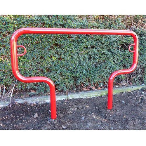Melzer metallbau gmbh & co. kg Pałąk wsporczy do rowerów, wys. 850 mm ponad podłożem, do wbetonowania, lakierow