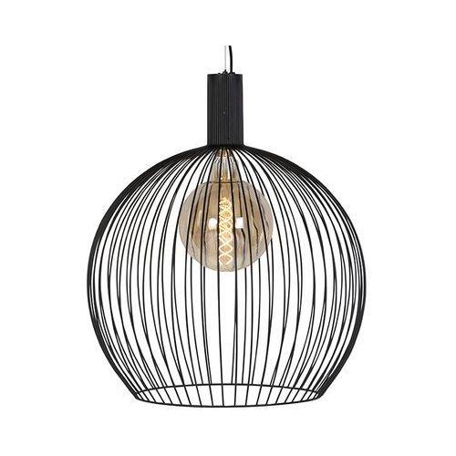 Eth Nowoczesna okrągła lampa wisząca czarna 60cm - wire