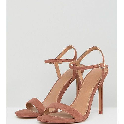 hands down barely there heeled sandals - brown, Asos